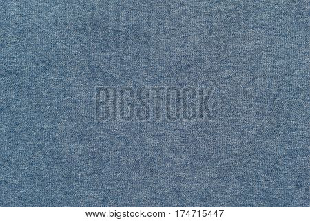 background and texture of pale blue color of soft knitted fabric in big resolution