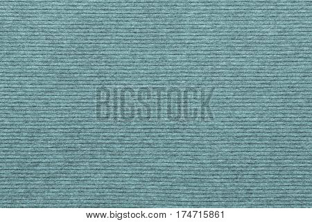 background and texture of knitted striped fabric of pale blue green color in big resolution