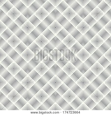 Vector seamless pattern. Abstract linear textured background. Modern geometric texture with thin lines. Regularly repeating geometrical zigzags corners.