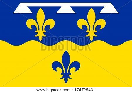 Flag of Loir-et-Cher is a department in the Centre-Val de Loire region France. Vector illustration