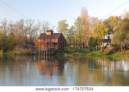 Jelka Watermill at a sunrise in Slovakia