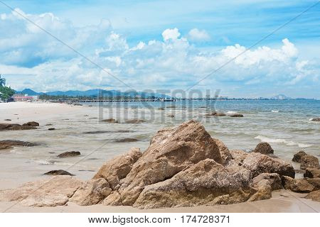 Rocks in the sea hua hin thailand
