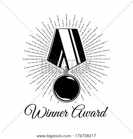 Medal award solated on white background. Vector illustration.