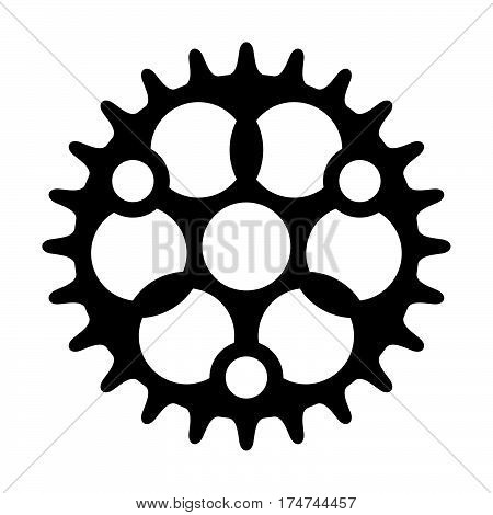 Sprocket ( shade picture ) on white background