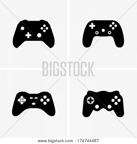 Set of video game controllers ( shade pictures )