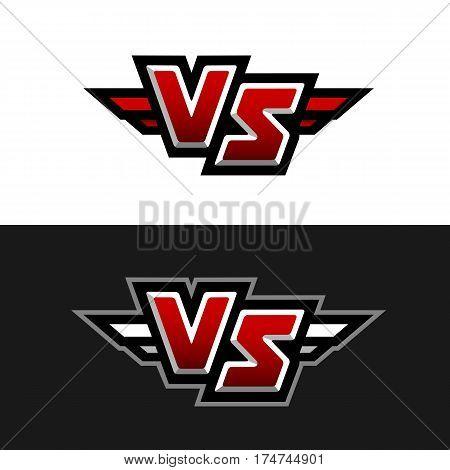 VS Logo Versus symbol. Two version. Vector illustration.
