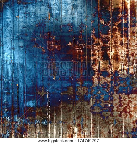 Mottled vintage background with grunge texture and different color patterns: yellow (beige); brown; gray; blue; red (orange); purple (violet)