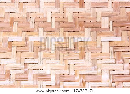 Bamboo weave pattern texture for background .