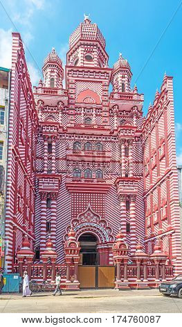 The Red Mosque Of Colombo