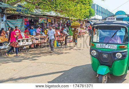 Tuk Tuk At Pettah Market