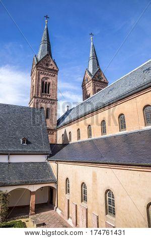 Famous Benedictine Cloister In Seligenstadt, Germany