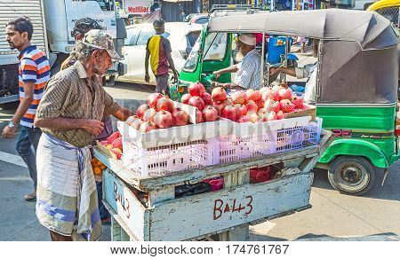 The Street Seller Of Fruits