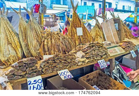 The Fose Market in Pettah is the nice place to choose and try local dried fish the proud of Sri Lankan fishermen Colombo.