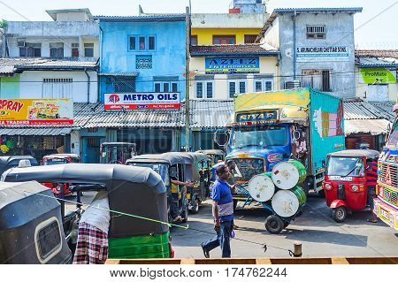 The Busy Street Of Pettah