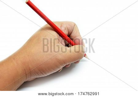 Hand Writing Isolated