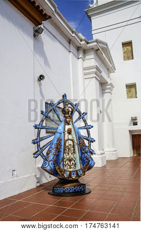 Virgen Nostra Seniora De Lujan At The Entrance Of The Church