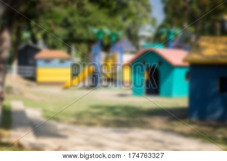 School Children's Playground in Summer stock photo