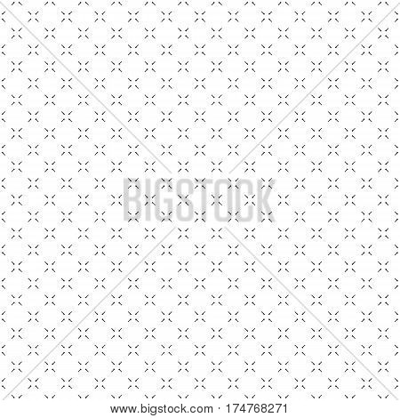 Vector minimalist seamless pattern, simple monochrome geometric texture. Diagonal thin lines, repeat tiles. Abstract minimalistic black & white background. Design for print, decor, stationery, cloth, textile