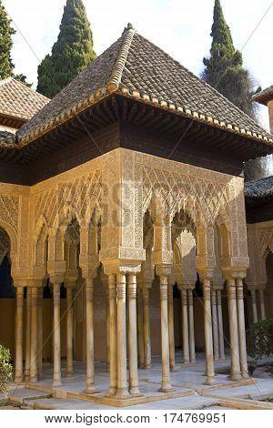 Lions Patio, Alhambra, Granada, Spain