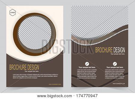 Brochure template Flyer design mocha color template