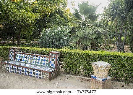 Sevilla (Andalucia Spain): the park near the Alcazar