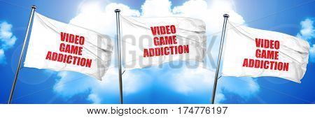 video game addiction, 3D rendering, triple flags