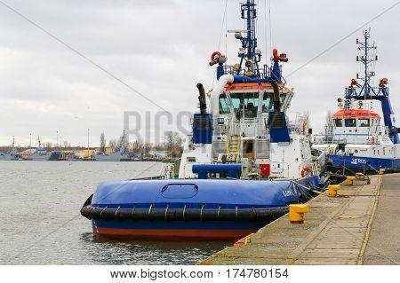 Tugboats In Swinoujscie
