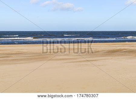 The beach promenade in Swinoujscie in Poland.