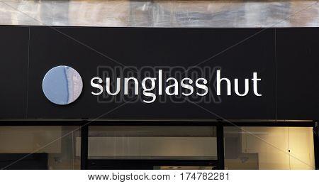 Sunglass Hut On A Store In Amsterdam