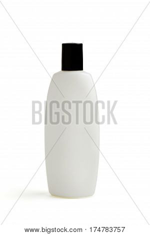 Plastic or ceramic bottle isolated on white background. Mock up for your design. Beer, shampoo, conditioner, shower gel, cream, cosmetics, beverage, lemonade soda perfume