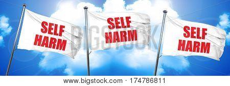 self harm, 3D rendering, triple flags