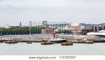 An Old Steam Tug in Southampton England
