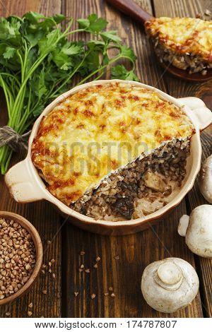 Buckwheat Casserole With Chicken