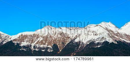 Caucasus mountains, Krasnaya Polyana, Rosa Hutor Sochi Russia