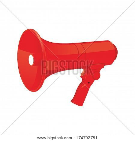 illustration design of red megaphone, loud voice