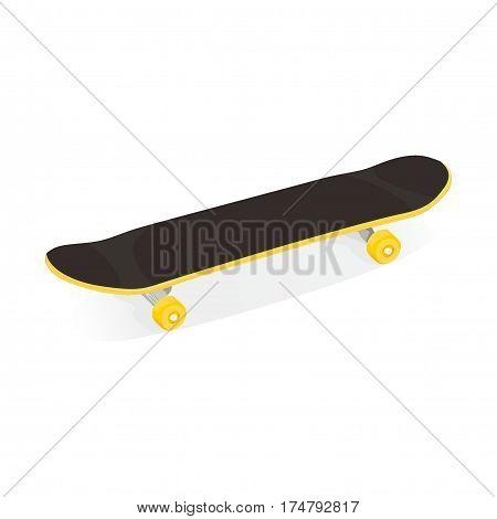 illustration of skateboard for extreme sport, roller
