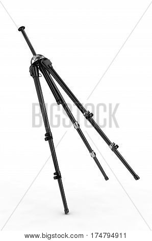 3d render detailed camera tripods on white background