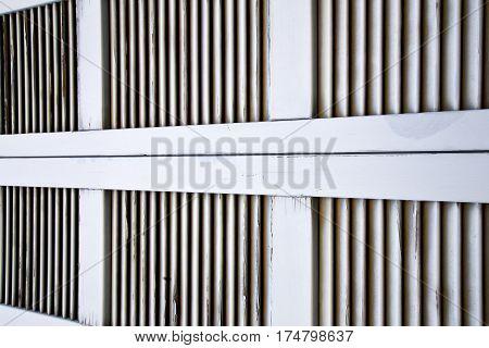 Window     Wood Venetian Blind In The  Besnate