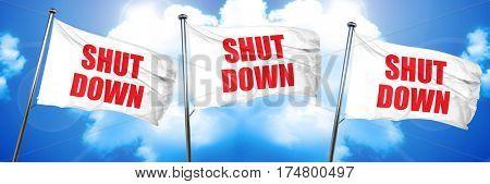 shut down, 3D rendering, triple flags