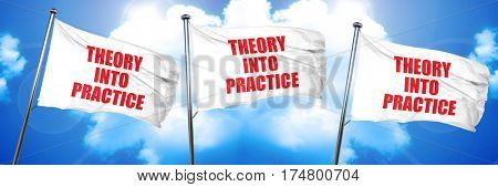 theory into practice, 3D rendering, triple flags