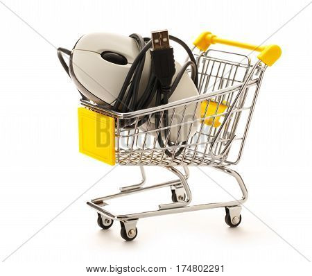 Market Pushcart With Mouse