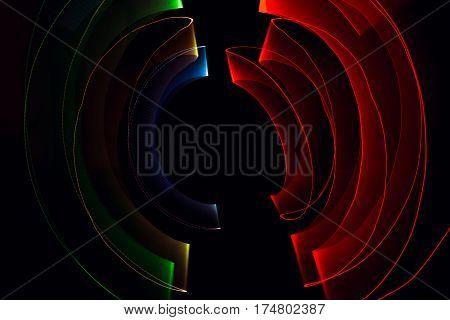 Light Painting Dark Background