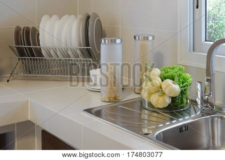 modern pantry with utensil in kitchen at home