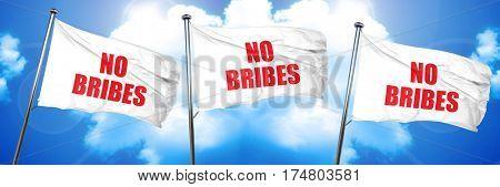 no bribes, 3D rendering, triple flags