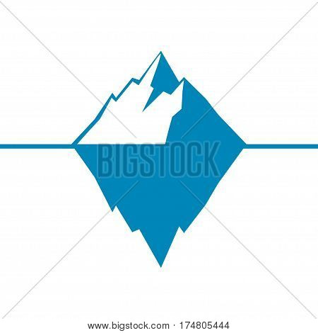 Iceberg vector icon isolated on white background. Ice berg vector icon