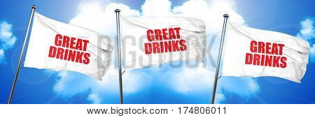 great drinks, 3D rendering, triple flags