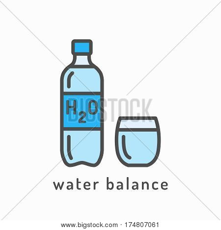 Water balance vector icon. Healthy lifestyle concept