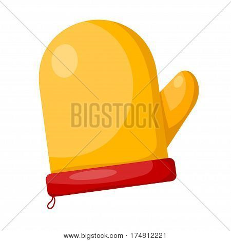Vector cartoon illustration of a kitchen pot holders on white background. Element of kitchen accessories. Stock vector