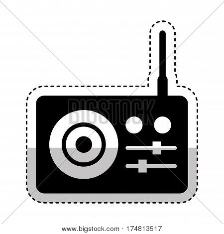 radio sound device icon vector illustration design