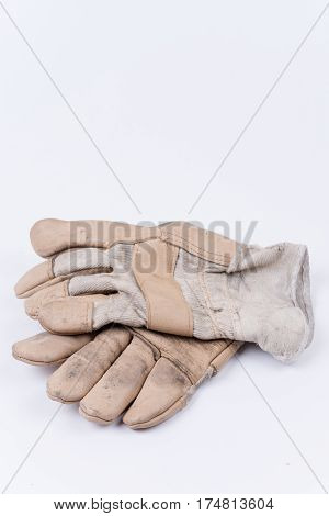 Old Dirty Used Working Gloves For Protection